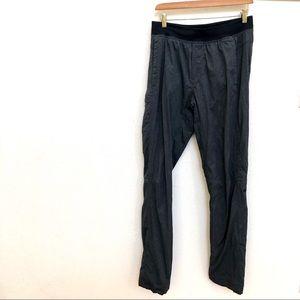 Lululemon Pants Sz M Gray Striped Yoga athletic